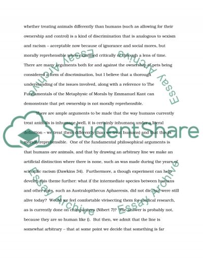 Philosophical Thoughts on the Nature of Dogs essay example