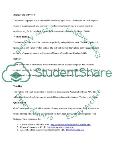 Request For Proposal Example from studentshare.org