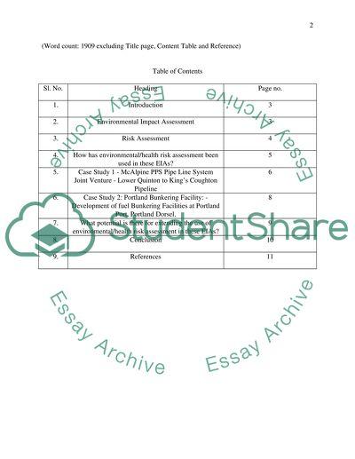 Environmental Impact Assessment Essay