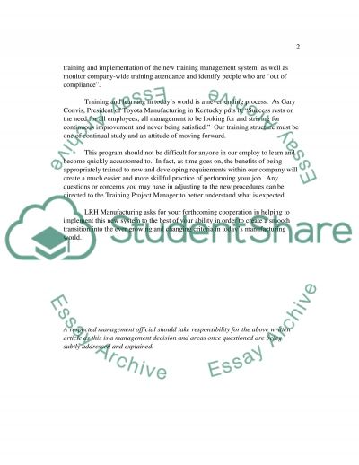 Organizational Change Essay essay example