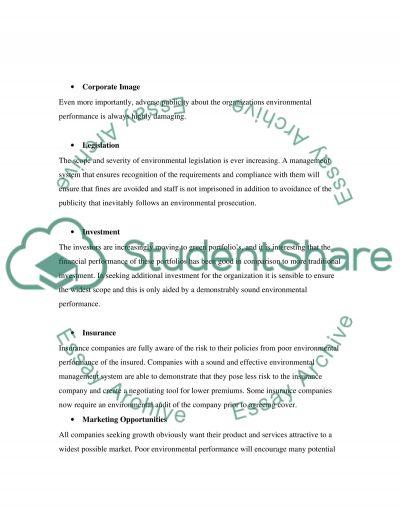 Environmental Management Bachelor Essay essay example