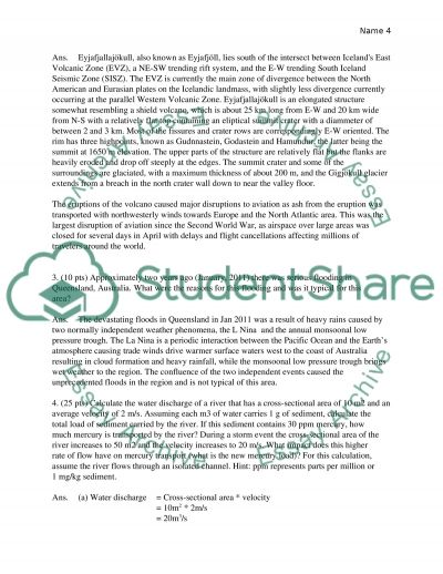 Environmental Geology Assignment essay example