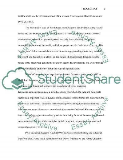 Economic class essay example