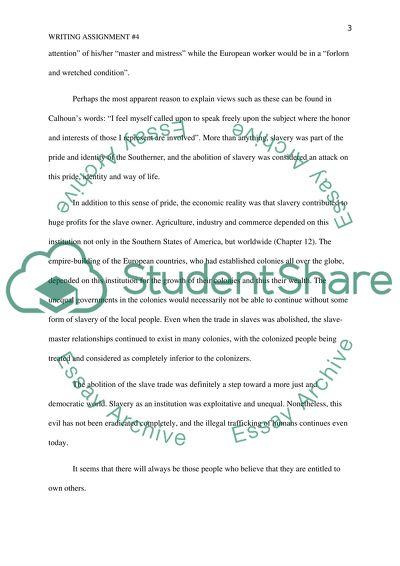 Essay topics on slavery