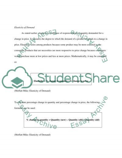 Elasticity of Demand essay example