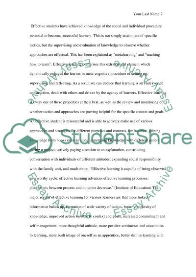 Learning Effective essay example