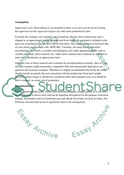 Managment and Cost Accounting essay example