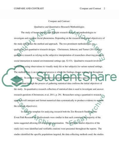 Compare and Contract essay example