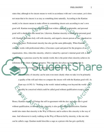 Kantian Sincerity and Professional Ethics essay example