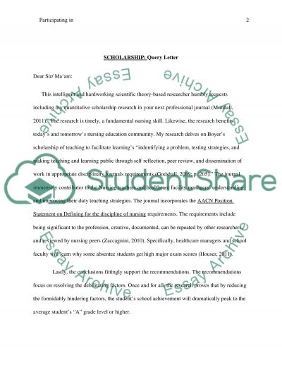 Participating in Scholarship essay example