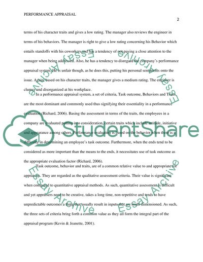 Performance Evaluation Paper