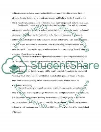 Wake Forest University School of Business essay example