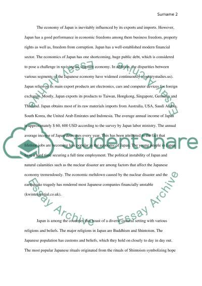 Japan essay example