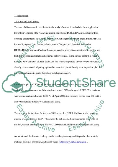 Applied research methods essay example
