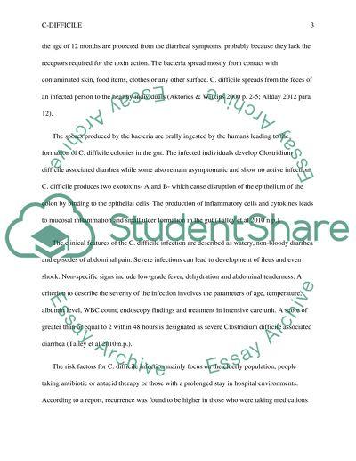 C-Difficile Research Paper