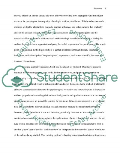 What do qualitative methods have to offer clinical psychology as research tools essay example