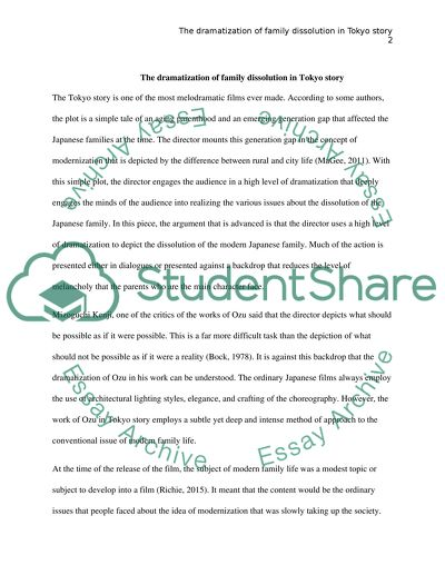 Essay Sample For High School The Dramatization Of Family Dissolution In Tokyo Story  Essay Example Example Of A College Essay Paper also Thesis Statement Essay Example The Dramatization Of Family Dissolution In Tokyo Story Essay Essay Papers Online