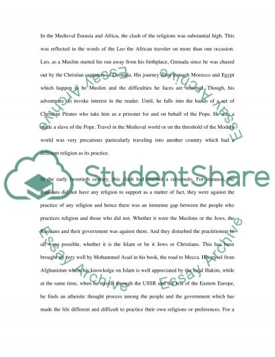 Pro-seminar on the Frontier of Islam essay example