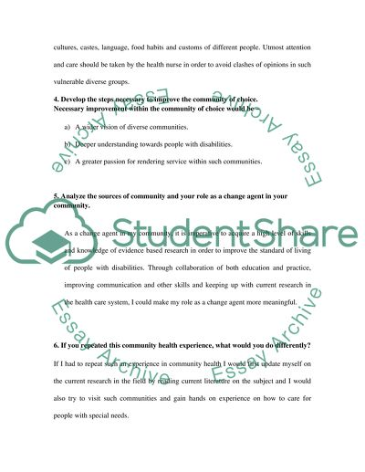 Services-Learning Individual Reflection Paper