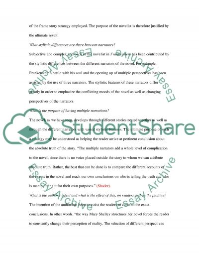 Frankenstein by Mary Shelley High School Book Report/Review essay example