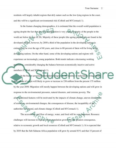 Is population growth affect on our environment essay example