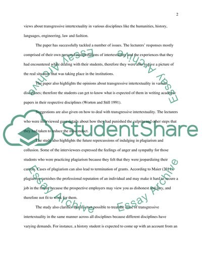 Assessment and Evaluation in Higher Education Local plagiarisms