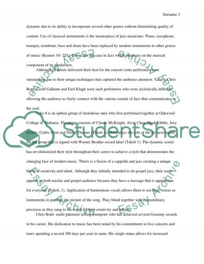 jazz concert review term paper Free jazz concert papers, essays, and research papers  jazz concert review i  enjoy and listen to variety of music from classical music to rap music.