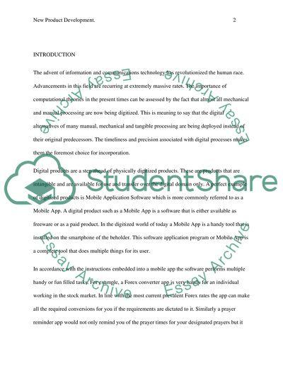 New Product Development Essay Example  Topics And Well Written  New Product Development
