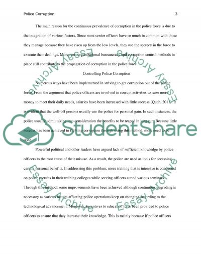 essay on police corruption example topics and well written text