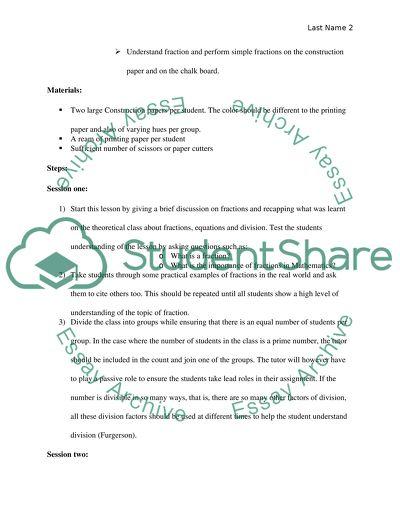 Final project (lesson plan )
