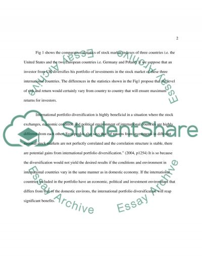 International diversification essay example