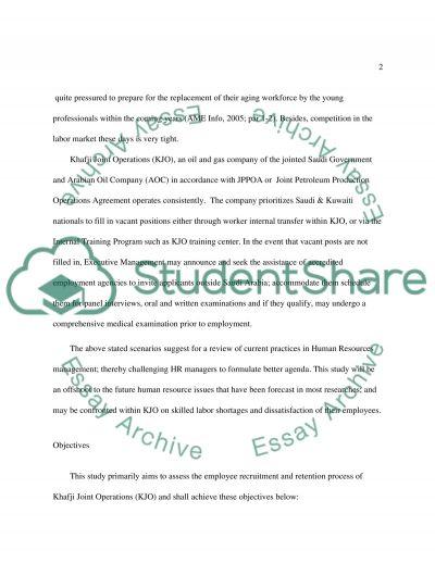 Employee Recruitment and Retention essay example