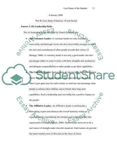 Discussion Questions( corporate governance& ethics) Essay essay example