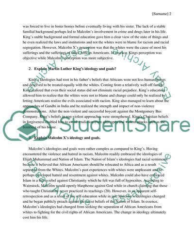 Martin Luther King - Examples of Essay Topics: Analysis and Outlines - GradesFixer GradesFixer
