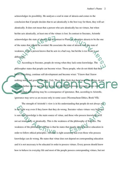 High School Dropouts Essay Aristotle On The Weakness Of The Will Compare And Contrast Essay Examples For High School also Advanced English Essays Aristotle On The Weakness Of The Will Essay Example  Topics And  Narrative Essay Topics For High School