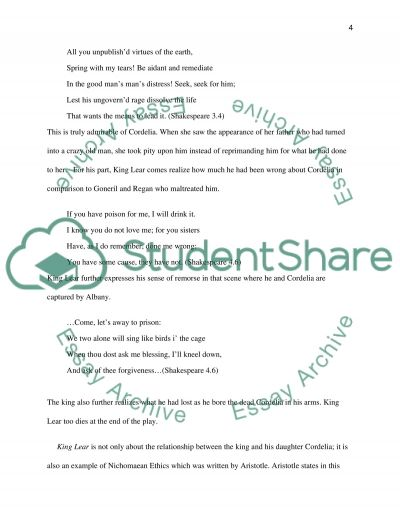shakespeares king lear essay English essays: king lear essay search browse essays join now login support tweet browse essays during shakespeare's king lear, lear has to become insane before seeing the truth in his life at the beginning of the play.