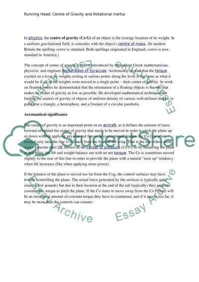 Physics project 2 essay example