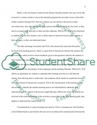 Virtual Learning Environment essay example