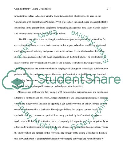 High School Essay Exploring Original Intent Versus A Living Constitution Essay Proposal Example also Argument Essay Thesis Statement Exploring Original Intent Versus A Living Constitution Essay Essays For High School Students To Read