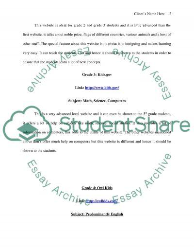 Evaluating Websites essay example