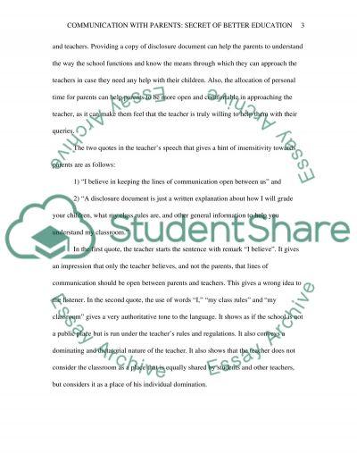 Communication with Parents: Secret of Better Education