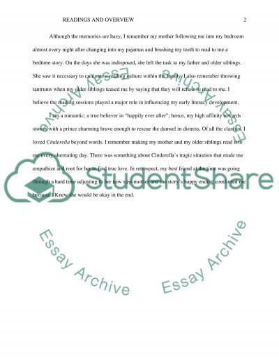 Week 3: Family Literacy and Language Development - Discussion essay example