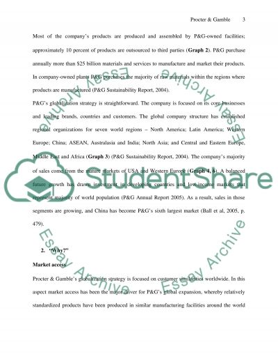 How did Procter & Gamble Globalize essay example