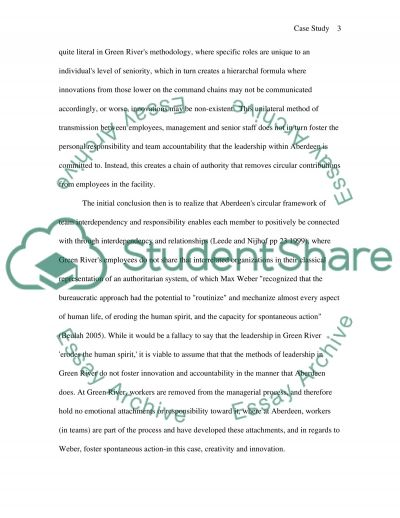Organizational Changes: Aberdeen and Green River Case Study essay example