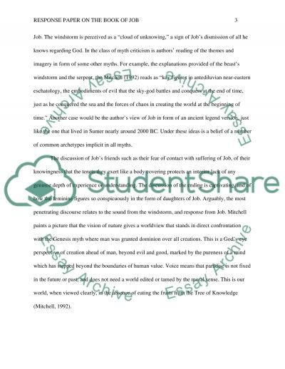 Response Paper on the Book of Job essay example