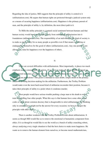 First Day Of College Essay Trolley Problem And Utilitarianism Simple Essay On Computer also Handmaids Tale Essay Trolley Problem And Utilitarianism Essay Example  Topics And Well  National Merit Scholarship Essay