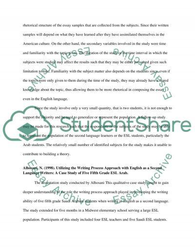 English Writing Process essay example
