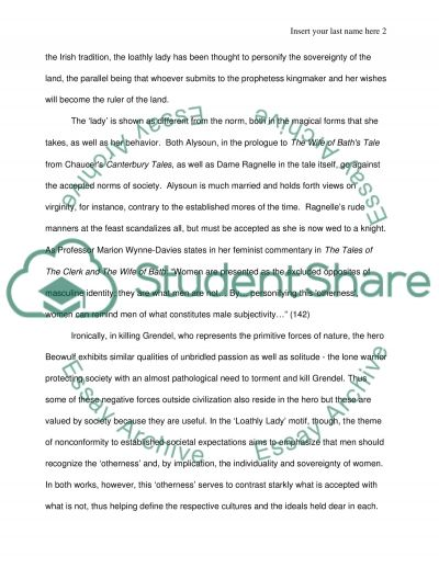 British literature with 3 choices for the topic essay example