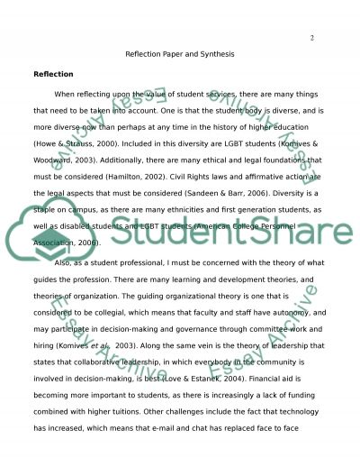 Synthesis Paper essay example