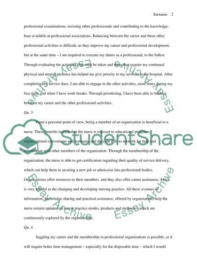 Nursing research essay example